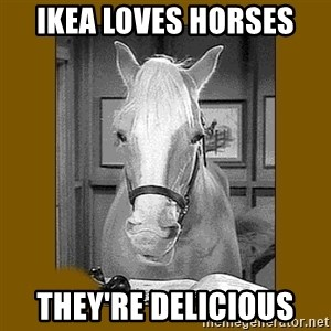 Mr. Ed 2.0 - IKEA loves horses they're delicious