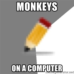 Advice Edit Button - Monkeys on a computer