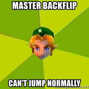 Quest Advice Link - MASTER BACKFLIP CAN'T JUMP NORMALLY