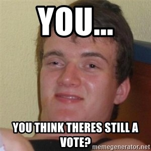Stoner Stanley - You... You think theres still a vote?