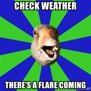 Fibromyalgia Duck - check weather there's a flare coming