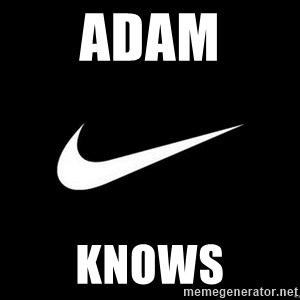 Nike swoosh - Adam Knows