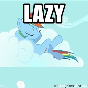 Rainbow Dash Cloud - lazy