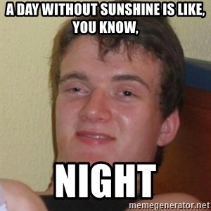 Really Stoned Guy - a day without sunshine is like, you know,  night