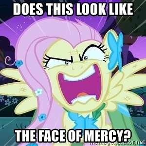 angry-fluttershy - Does this look like the face of mercy?