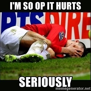 cristiano ronaldo crying - i'm so op it hurts seriously