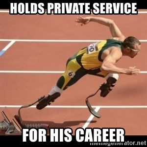 Oscar Pistorius Excuses - holds private service for his career