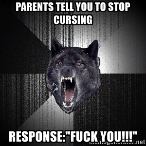 "Insanity Wolf - Parents tell you to stop cursing response:""Fuck you!!!"""