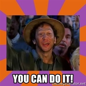 Rob Schneider -  You can do it!