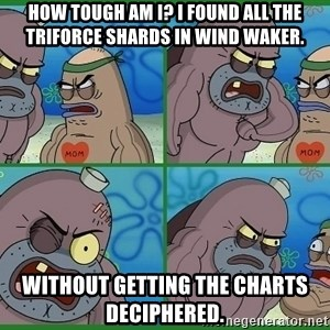 How tough are you - How tough am I? I found all the triforce sHards in wind waker. Without getting the charts deciphered.