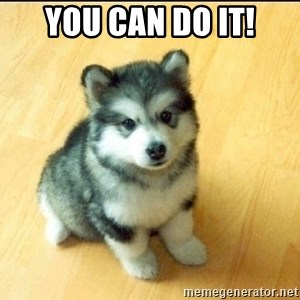 Baby Courage Wolf - you can do it!