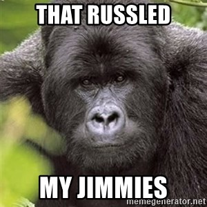 Grad Student Gorilla - that russled my jimmies
