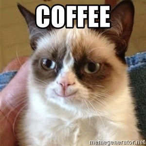 Grumpy Cat Smile - coffee