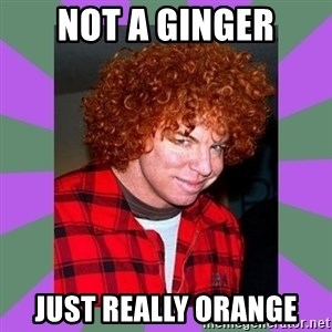 Carrot Top - not a ginger just really orange