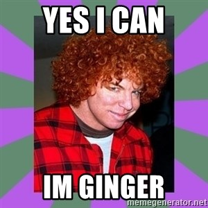 Carrot Top - yes i can im ginger