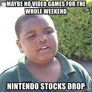 LATARIAN MILTON - maybe no video games for the whole weekend nintendo stocks drop