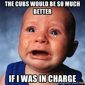 Cry - the cubs would be so much better if i was in charge