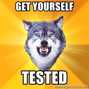 Courage Wolf - get yourself tested