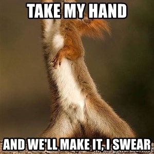 dramatic squirrel - take my hand and we'll make it, i swear