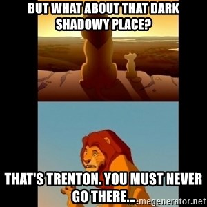 Lion King Shadowy Place - But what about that dark shadowy place? That's Trenton. You must never go there...