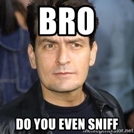 charlie sheen - Bro do you even sniff
