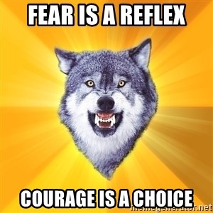 Courage Wolf - Fear is a reflex Courage is a choice