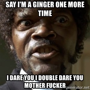 SAY IT AGAIN I DARE YOU! - Say I'm a ginger one more time I dare you I douBle dare you mother fucker