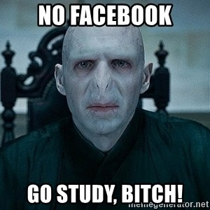 Voldemort - No FaCEBOOK Go study, Bitch!