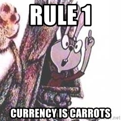 Clever Rabbit - rule 1 currency is carrots