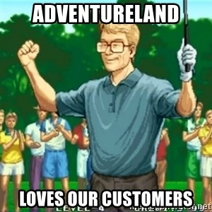Happy Golfer - Adventureland loves our customers