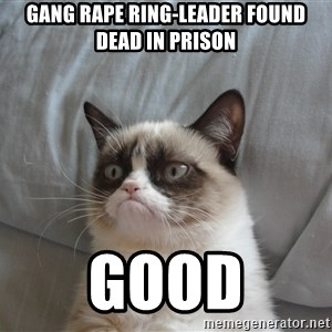 good grumpy cat 2 - GANG RAPE RING-LEADER FOUND DEAD IN PRISON GOOD