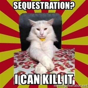 Dictator Cat - sequestration? I can kill it
