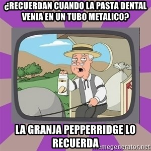 Pepperidge Farm Remembers FG - ¿recuerdan cuando la pasta dental venia en un tubo metalico? la granja pepperridge lo recuerda