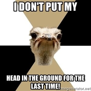 Music Major Ostrich - i don't put my head in the ground for the last time!