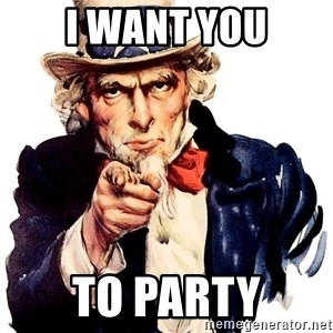 Uncle Sam Point - I want you To party