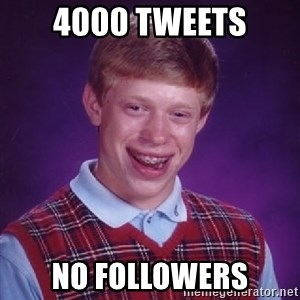 Bad Luck Brian - 4000 tweets no followers