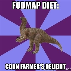 IBS Iguanadon - fodmap diet: corn farmer's delight