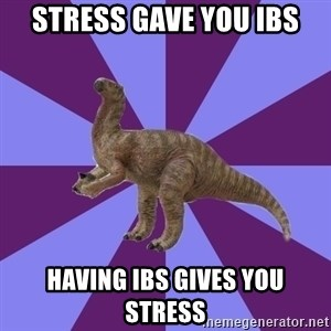 IBS Iguanadon - stress gave you ibs having ibs gives you stress
