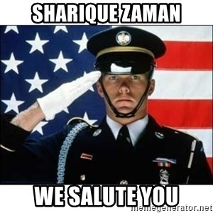 salute - Sharique Zaman We salute you