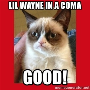 No cat - Lil Wayne in a coma Good!