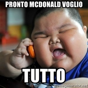 fat chinese kid - Pronto McDonald voglio tutto