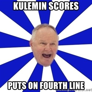 Crafty Randy - KULEMIN SCORES PUTS ON FOURTH LINE