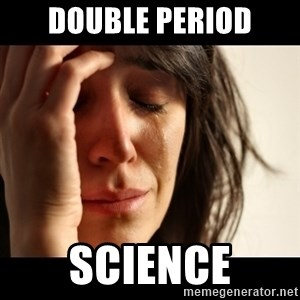 crying girl sad - double period science