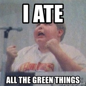 The Fotographing Fat Kid  - I ate  all the green things