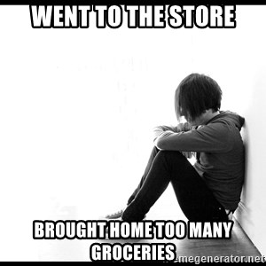 First World Problems - went to the store brought home too many groceries
