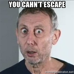 Michael Rosen stares into your soul - you cahn't escape