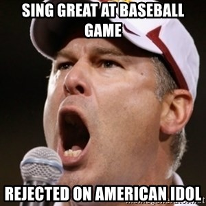 Pauw Whoads - sing great at baseball game rejected on american idol