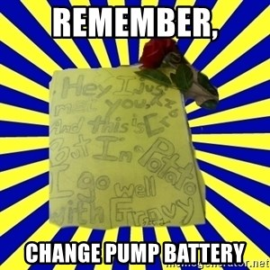 Livy - REMEMBER,  CHANGE PUMP BATTERY