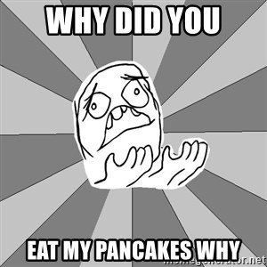 Whyyy??? - WHY DID YOU  EAT MY PANCAKES WHY