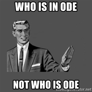 Grammar Guy - who is in ode not who is ode